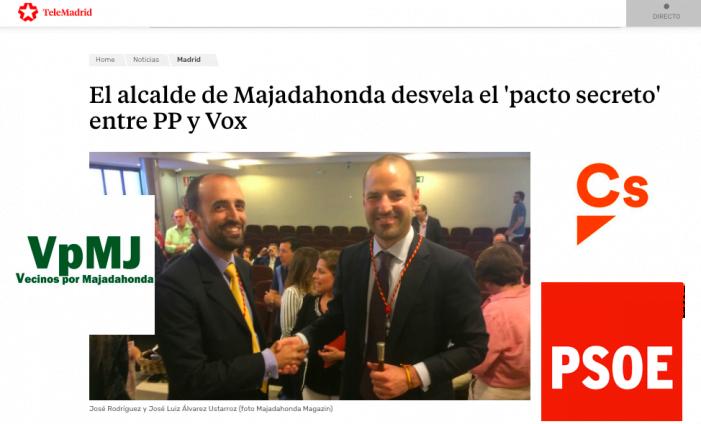 Cs, PSOE y Vecinos por Majadahonda replican al pacto PP-Vox en el Ayuntamiento