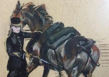 """""""El capitán Cebollino Von Linderman y sus caballos, el torero """"Madrileñito"""" y el monárquico Aldecoa (Soldado Majadahonda, 1928)"""