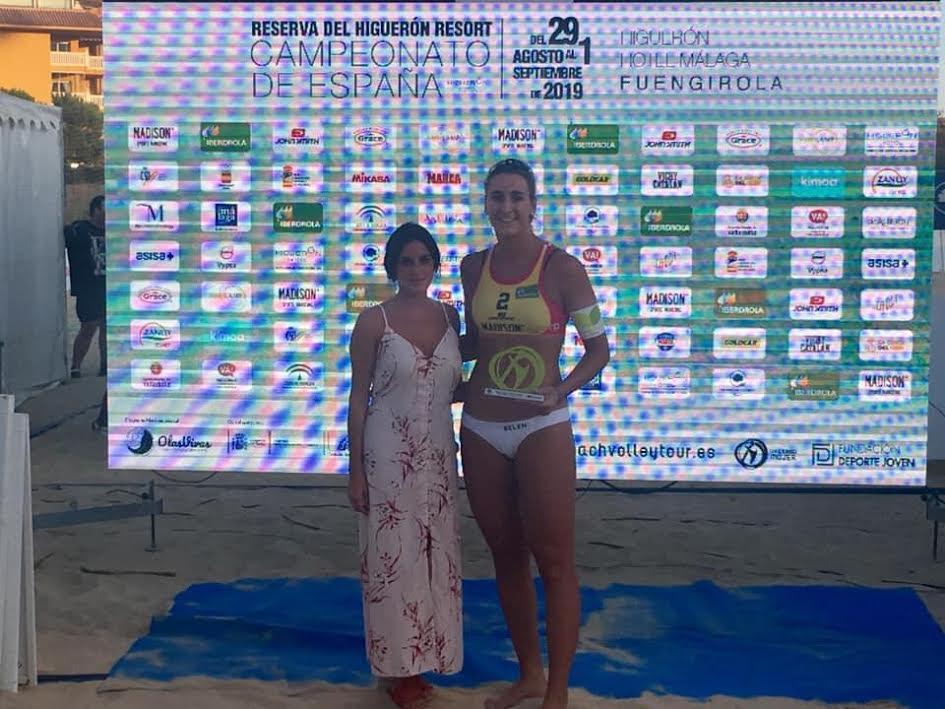 Sorpresa en Vóley Playa: Belén Carro le gana a la olímpica Elsa Baquerizo (Majadahonda) y se llevan la plata y bronce de España 2019