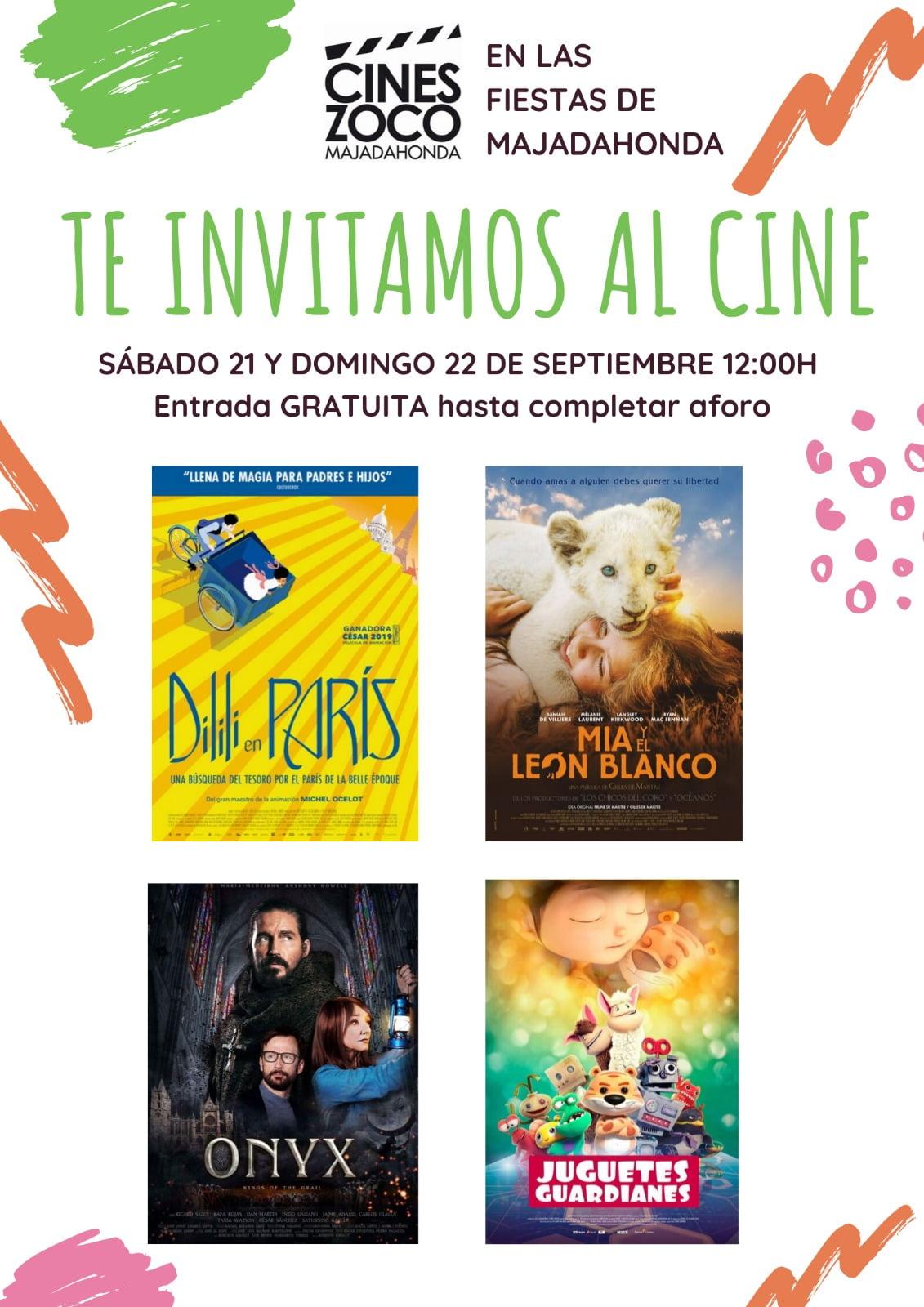 Cines Zoco invita a 4 películas gratis con motivo de las Fiestas de Majadahonda 2019