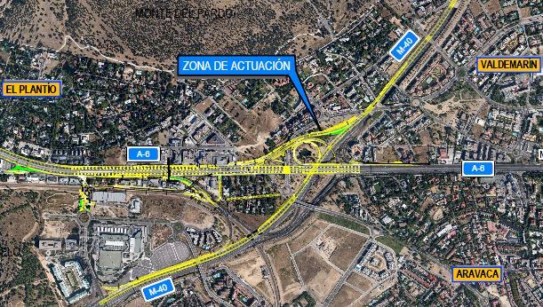 "Fomento destina 37 millones € para ""desatascar"" la A-6 en el ""nudo"" M-40 de la 6ª Avenida"