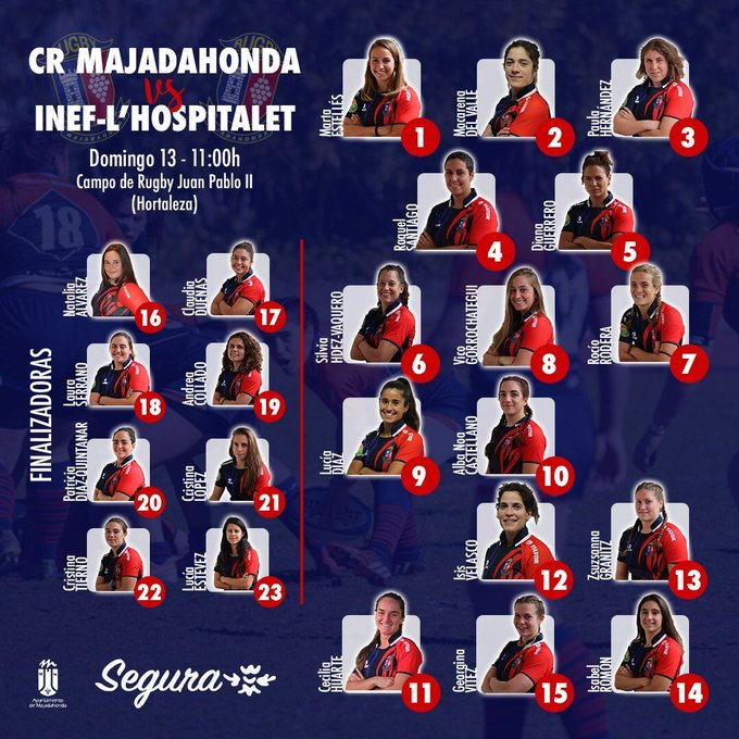 "Rugby Femenino: ""partido redondo"" (52-17) de CR Majadahonda ante Hospitalet (Barcelona) en el ""exilio"" de Hortaleza"