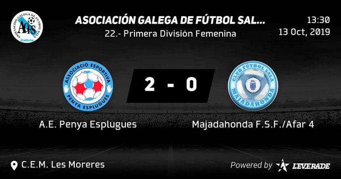 Fútbol Sala Femenino: Majadahonda regresa de Barcelona con derrota frente al Penya Esplugues