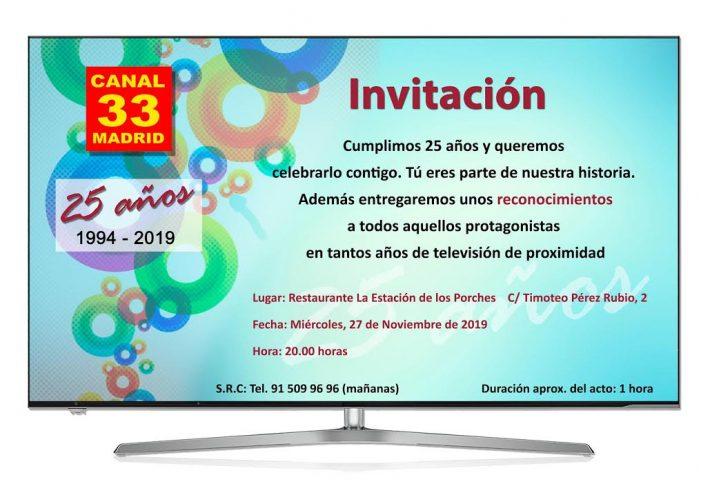 """Canal 33 premia a Majadahonda Magazin en su Gala 25º Aniversario: """"sociedad civil desde periodismo local"""""""
