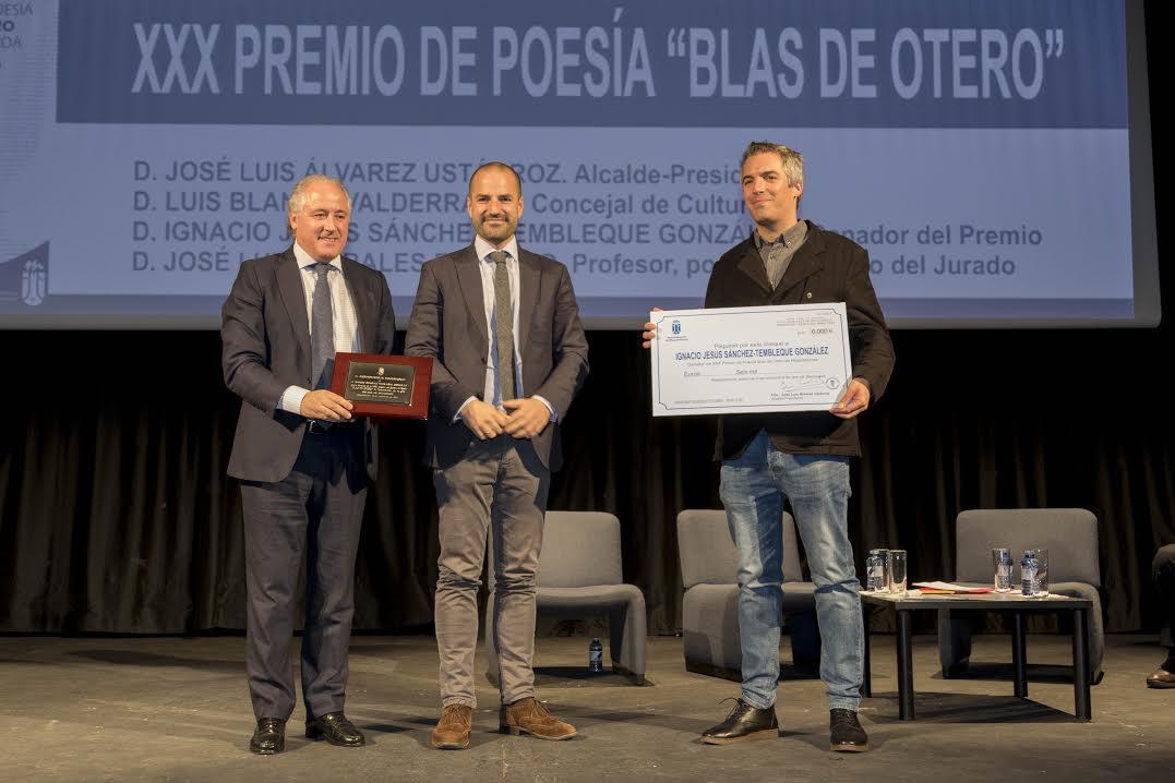 El poeta majariego Ignacio Sánchez-Tembleque gana los 6.000 € del Premio Blas de Otero de Majadahonda