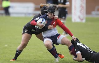 Rugby Femenino: las espectaculares imágenes de la trabajada victoria del CR Majadahonda en Valladolid (12-55)
