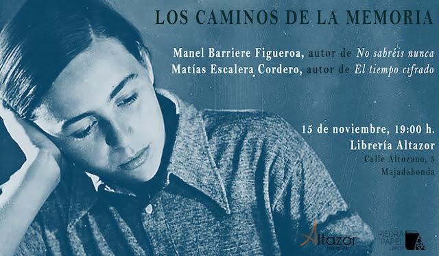 Los escritores Manel Barriere y Matías Escalera presentan sus obras en la librería Altazor Majadahonda