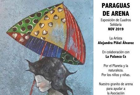 """La artista Alejandra Piñel inaugura su exposición """"Paraguas de Arena"""" por amor al arte"""