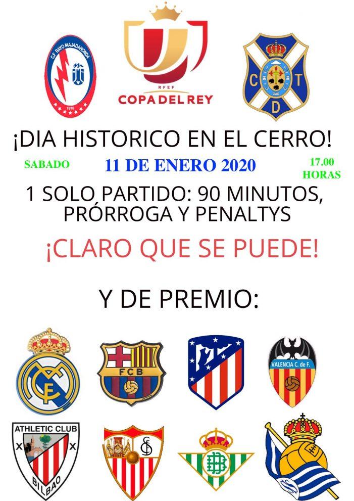 Copa del Rey: un histórico Rayo Majadahonda-Tenerife este sábado (17.00) en el Cerro y sin Televisión
