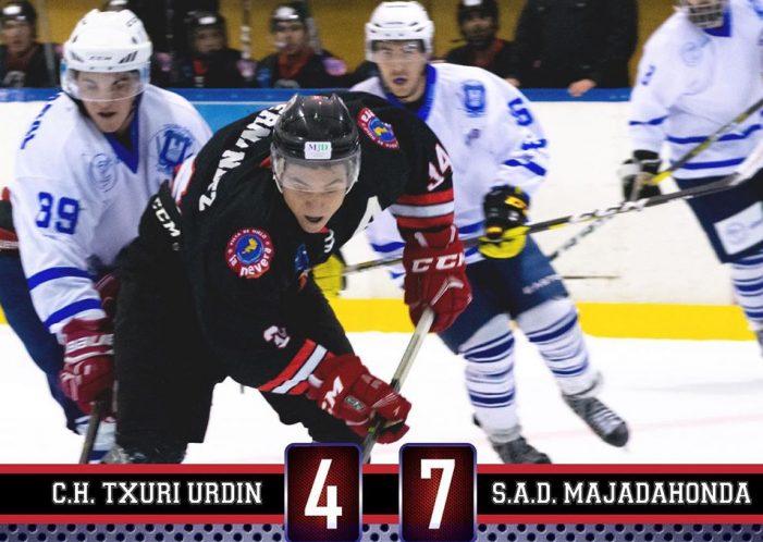 Hockey Hielo: Majadahonda derrota al tricampeón Txuri Urdin a domicilio y pone la liga en un puño