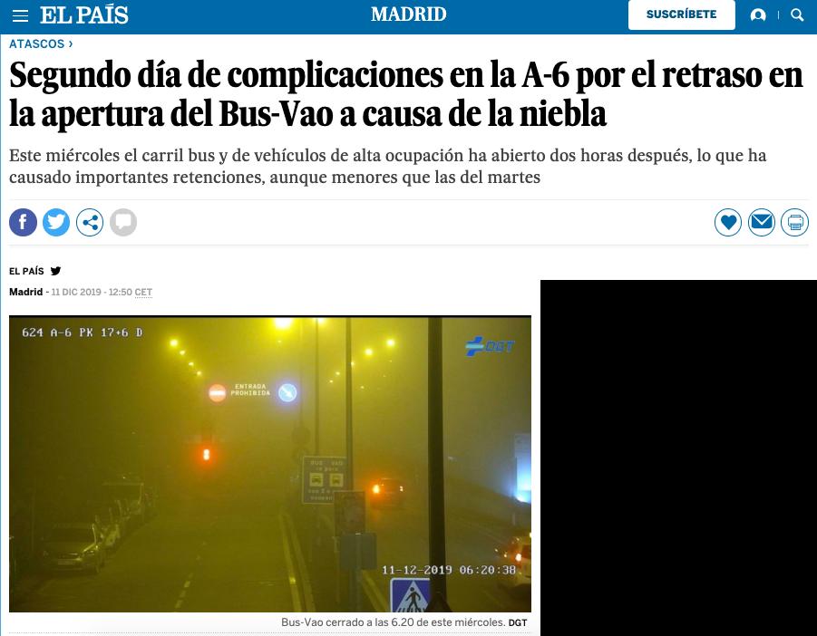 """Los atascos por el cierre del Bus Vao A-6 Madrid Oeste fueron """"trending topic"""": 11.000 vehículos afectados"""