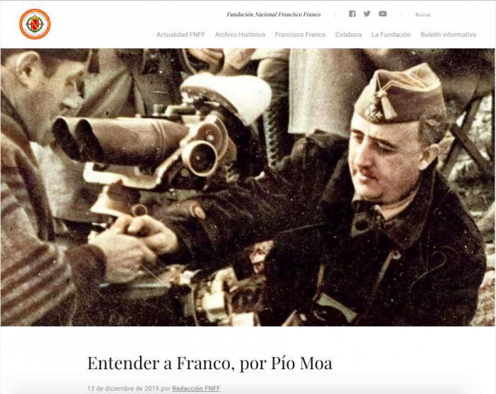 """El Ayuntamiento de Majadahonda (PP-Vox) promociona un libro para """"entender a Franco"""""""