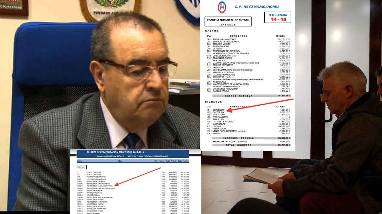 """El inquilino de la cafetería del Rayo Majadahonda dice que Vedia le cobraba en """"B"""" y este presenta documentos que lo niegan"""