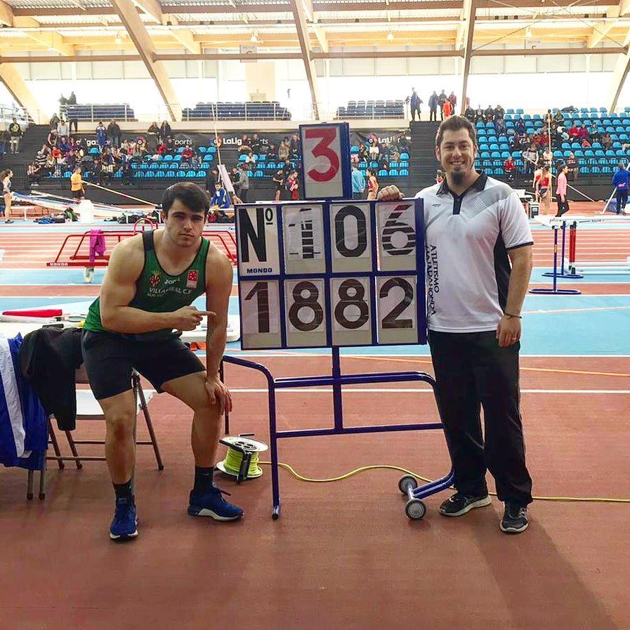 Atletismo: Jorge Gras (Majadahonda) bate otro récord de España en Peso previo a los retos en Antequera, Sabadell, Minsk y Nairobi