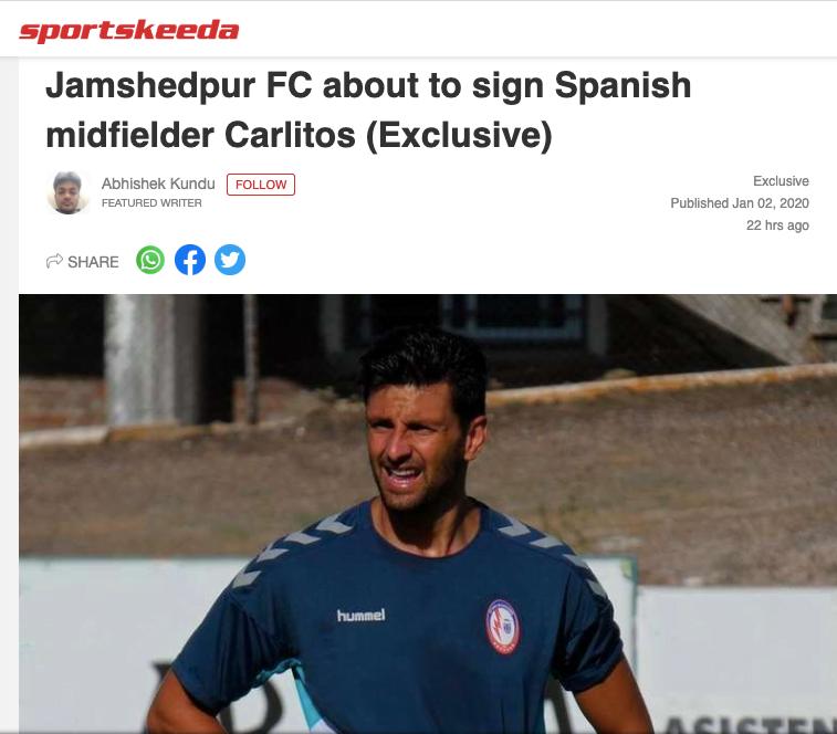 La prensa hindú da por hecho que Carlitos se va con Iriondo y se cae de la convocatoria ante Ferrol