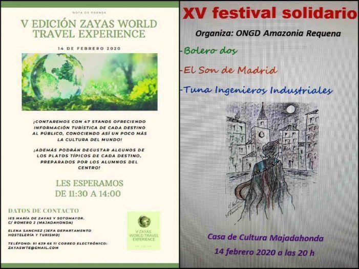 Cultura Majadahonda: gastronomía y turismo en el Zayas World Travel Experience y música solidaria del Festival Amazonia
