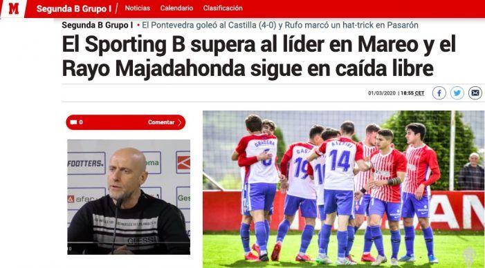 """2ª B: la prensa deportiva habla de """"caída libre"""" del Rayo Majadahonda en una catastrófica jornada de los equipos madrileños"""