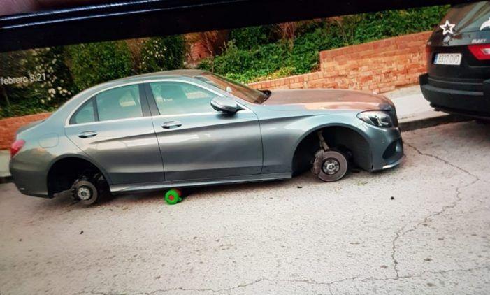 Oleada de robos de neumáticos de coches en Majadahonda y reyerta juvenil en la Gran Vía