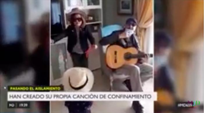 Una familia de músicos de Majadahonda agradece también a los periodistas su labor frente al coronavirus