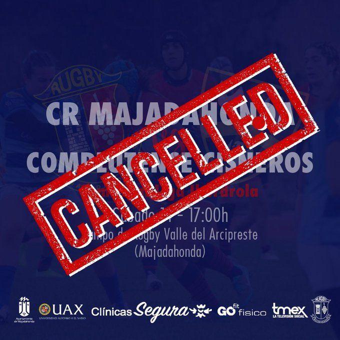 La Federación de Rugby suspende el Majadahonda-Cisneros femenino y la liga masculina