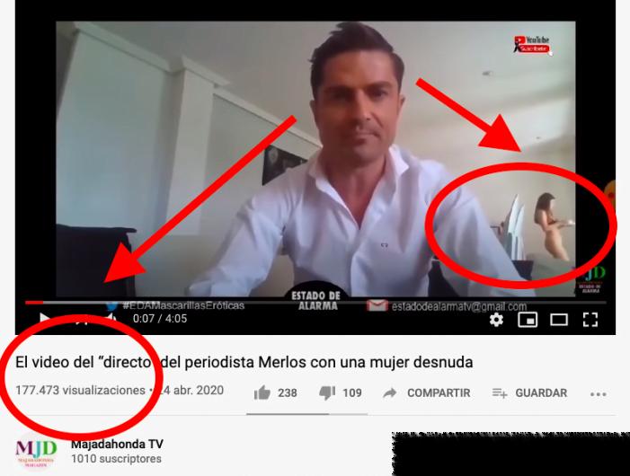 """TV Oeste: el vídeo sobre la infidelidad """"en directo"""" del periodista Merlos alcanza 177.000 visitas en 24 horas"""