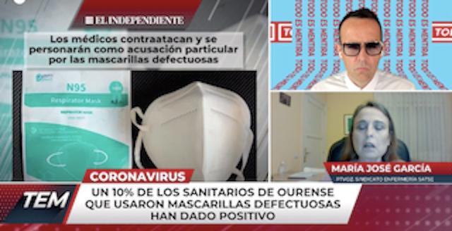 """Enfermera contagiada en Majadahonda: """"están reteniendo mascarillas en IFEMA"""""""