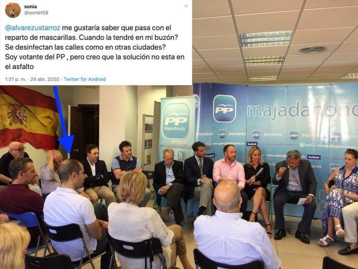 """Votantes del PP recriminan al alcalde la """"operación asfalto"""" y denuncian que no llegan las mascarillas"""