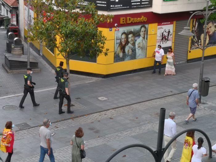 Incidentes en Majadahonda tras las manifestaciones con caceroladas