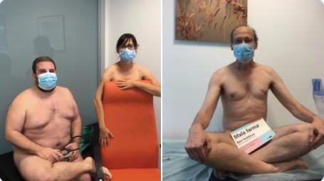 Tres médicos de Majadahonda se desnudan para protestar por la falta de medios de protección