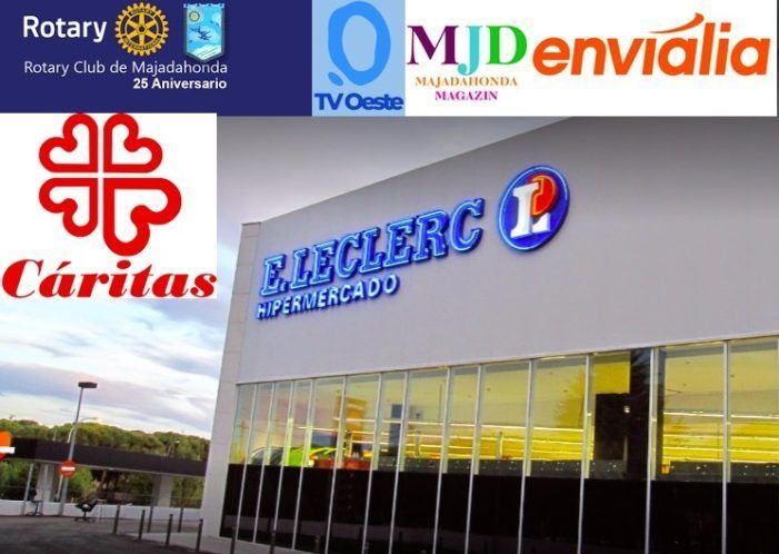 Rotary Club de Majadahonda acude en socorro de las familias necesitadas con alimentos del súper E.Leclerc