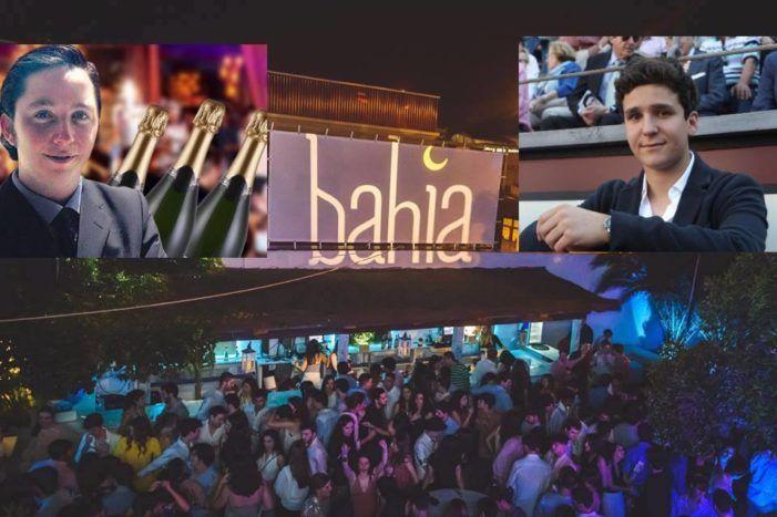 Froilán de Borbón y el pequeño Nicolás en la discoteca Bahía de Majadahonda que celebró la fiesta