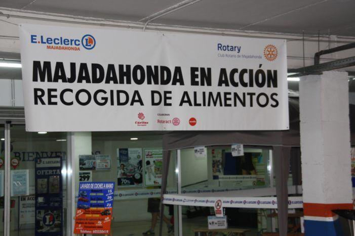 Ayuda humanitaria: los rotarios de Majadahonda sugieren hacer la compra en Leclerc