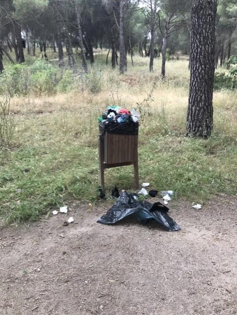 """""""El Parque del Pinar de Doña Consuelo de Majadahonda se ha convertido en un estercolero lleno de ratas"""""""