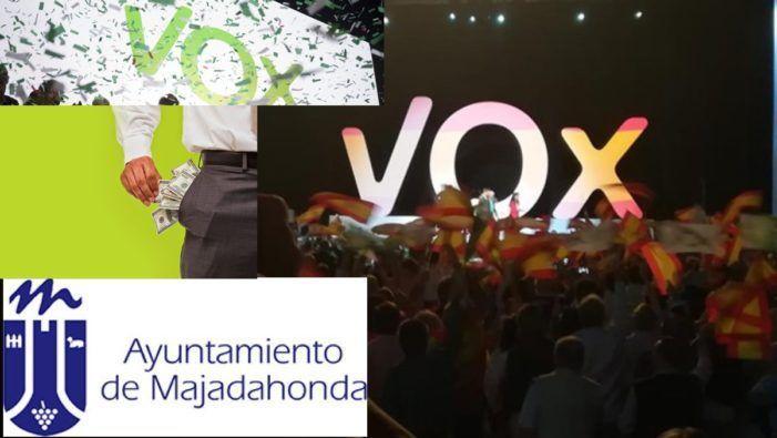 Vox anuncia que su subvención política en Majadahonda va a ONGs del Covid 19 pero el dinero irá a sus militantes