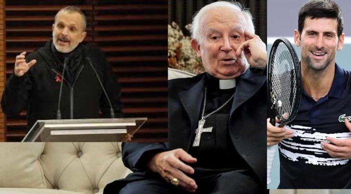 """Vacunas y supersticiones: """"disparates de Miguel Bosé, Djokovic, el Rector y el Arzobispo diciendo que son obra del diablo con fetos abortados"""""""