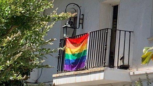 Un concejal del Gobierno de Vox en Majadahonda intentó arrancar la bandera gay del balcón del PSOE en el Ayuntamiento