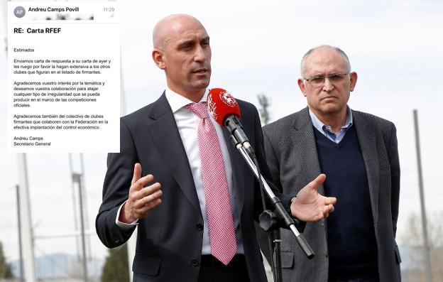 """La Federación de Fútbol elogia en privado a los 11 clubes que denunciaron corrupción y les replica en público: """"no hay pruebas"""""""