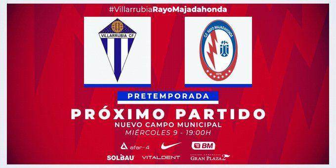 Villarubia (2ªB) contra Rayo Majadahonda, este miércoles por TV