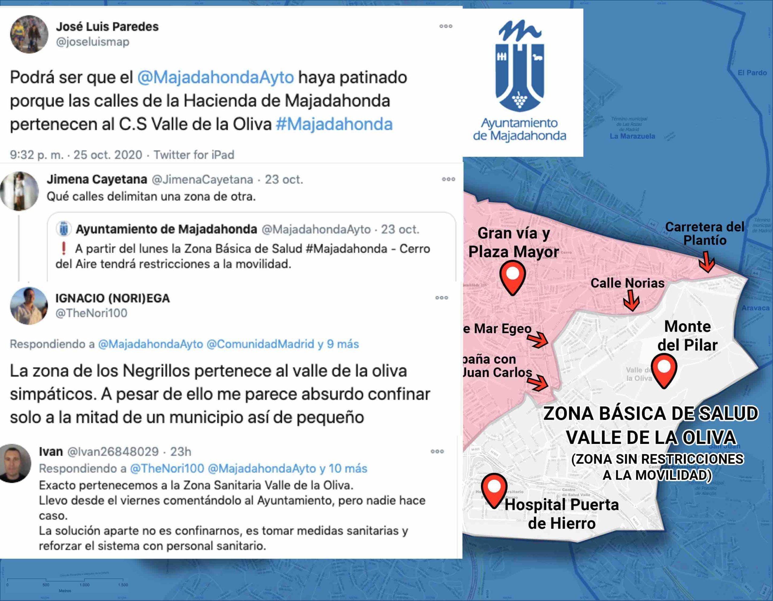 Covid: falla la comunicación oficial de Comunidad de Madrid y de los 4 Ayuntamientos del Oeste confinados