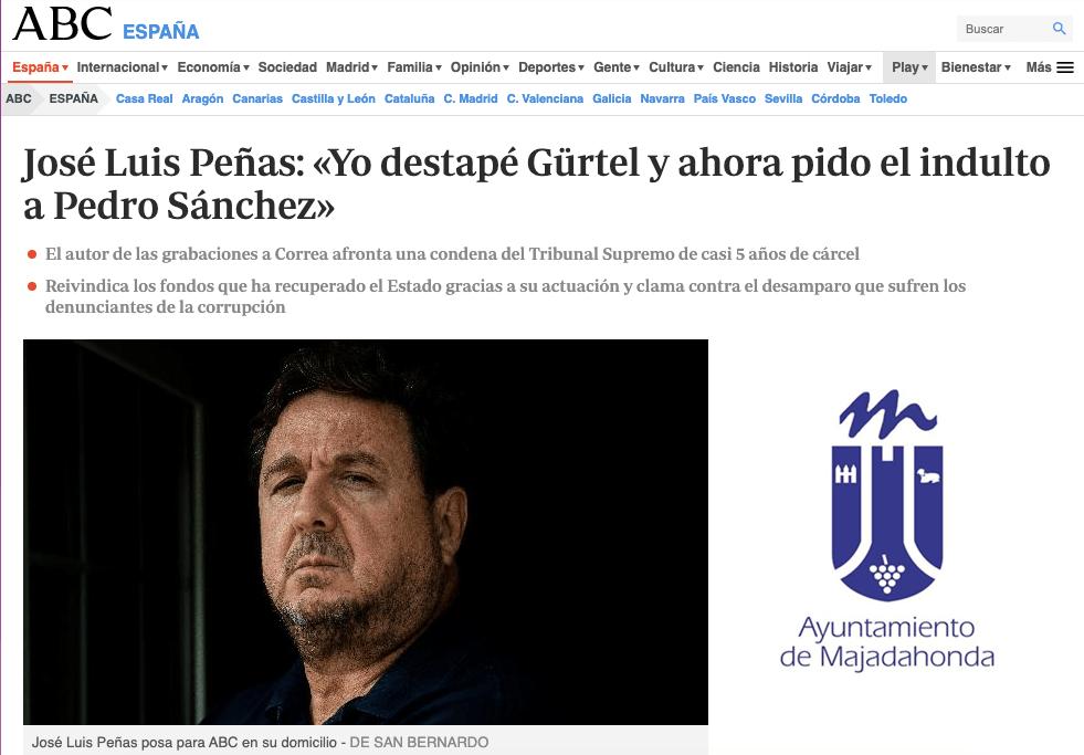 """Peñas (ex PP Majadahonda): """"gestionaba 30 millones € como concejal en Majadahonda y me llegaron a ofrecer dinero pero lo rechacé"""""""