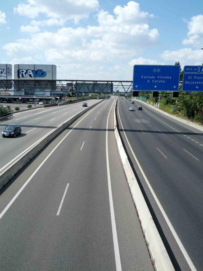 El teletrabajo reduce un 44% la entrada por la A-6 a Madrid y Ciudad Universitaria