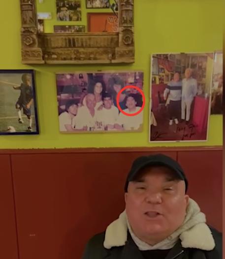 """El restaurante italiano """"Bella Napoli"""" (Majadahonda) se vuelve más famoso con la muerte de Maradona: la foto"""