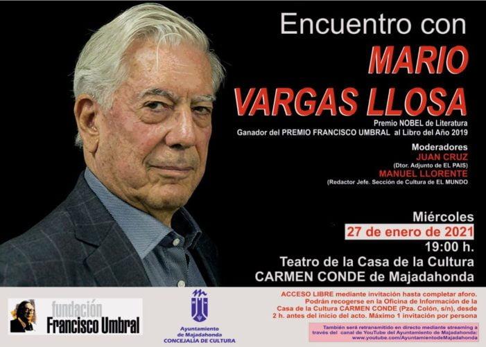 El Premio Nobel Mario Vargas Llosa visita Majadahonda