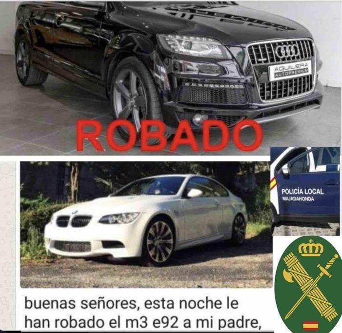 Vuelven los robos de coches de lujo en las urbanizaciones del Monte del Pilar (Majadahonda)