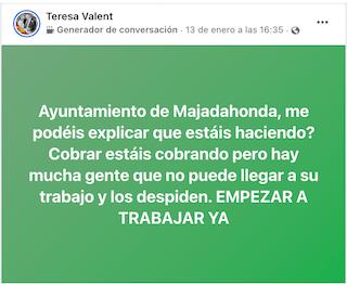 """La gestión municipal de la nevada aflora 4 nuevos """"influencer"""" en Majadahonda"""