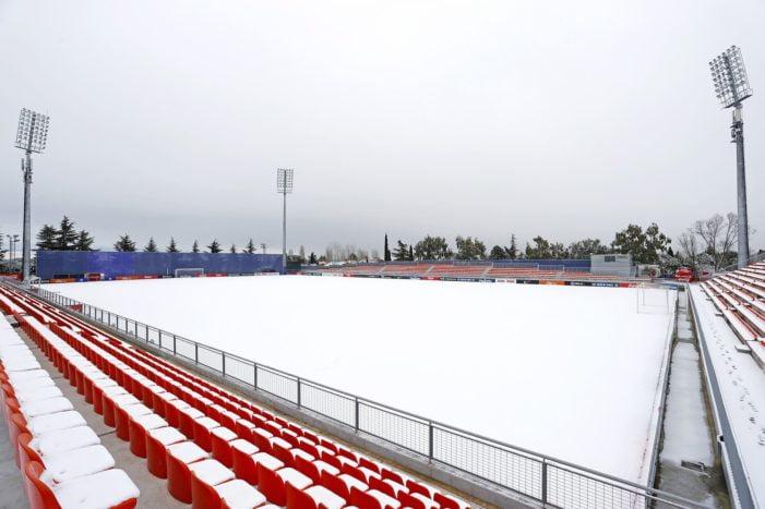 El aplazamiento del Rayo Majadahonda-Getafe, inevitable: la nieve cubre el Cerro del Espino