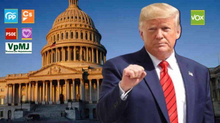 La mayoría de los partidos condena desde Majadahonda el golpe de Estado de Trump en EE.UU