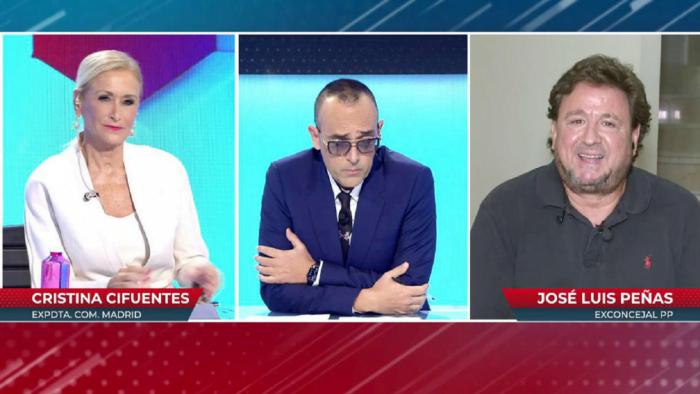 Risto Mejide enfrenta al ex concejal del PP en Majadahonda José Luis Peñas con la ex presidenta Cristina Cifuentes