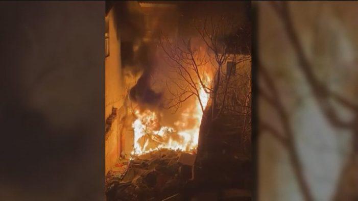 Arde en llamas por un pavoroso incendio el insalubre asentamiento rumano de Majadahonda