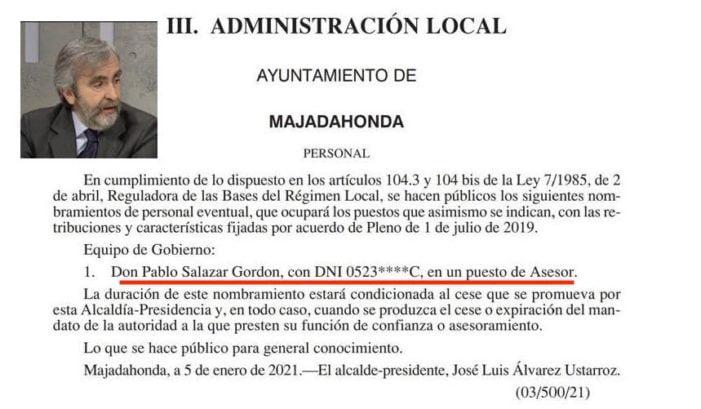 El alcalde de Majadahonda se trae como asesor a un ex concejal del PP en Alcobendas
